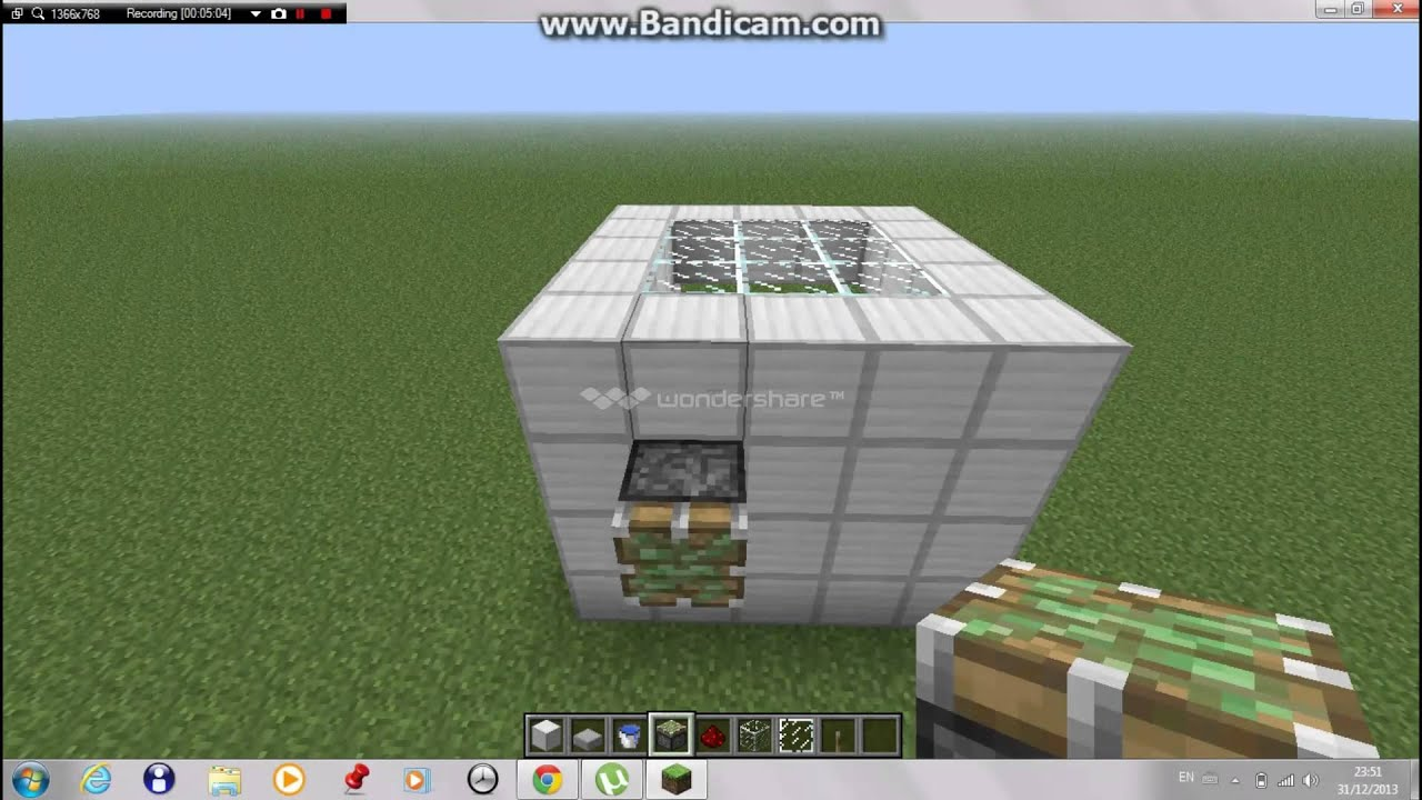 minecraft how to make a working shower