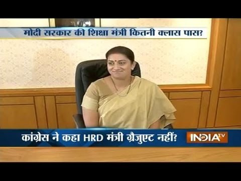 'Don't question Smriti Irani, Sonia Gandhi is not even 10th pass'