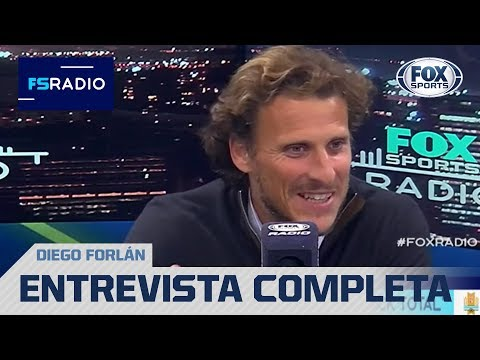 Diego Forlán y una nota imperdible en FOX Sports Radio