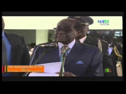 His Excellency President Robert G.  Mugabe Speaks at the Inauguration ...