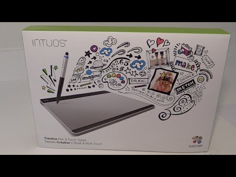Wacom Intuos Pen and Touch Graphics Tablet CHT608 Unboxing