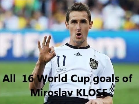 Miroslav KLOSE! All 16 WC goals on video!!! New Re