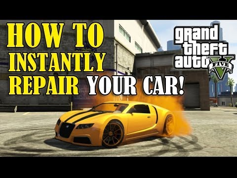 GTA 5 - How To Instantly FIX/REPAIR Your CAR!