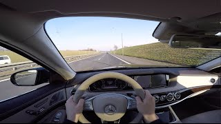 [POV#4] 2016 Mercedes S350d 4MATIC L W222 9G-TRONIC - walkaround, drive, sound, review, self-driving