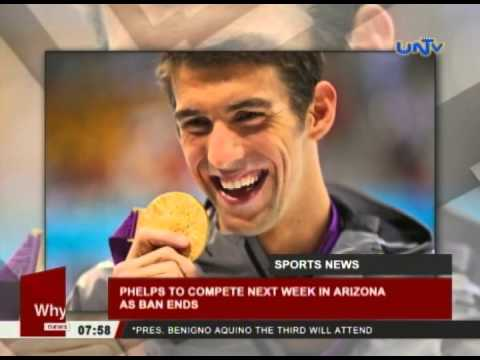 Phelps to compete next week in Arizona as ban ends