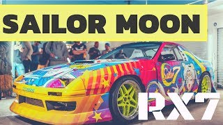 SAILOR 7 Reveal | Sailor Moon Inspired Itasha RX7 Drift Car