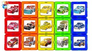 Learning Color Disney Cars Lightning McQueen rainbow puzzle Nursery Rhyme Play for kids car toys