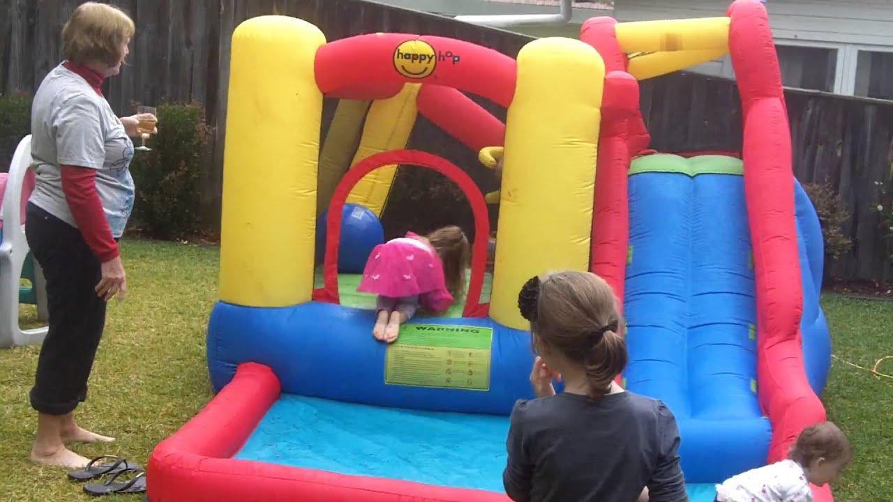 Kids In The Bouncy Castle Water Youtube