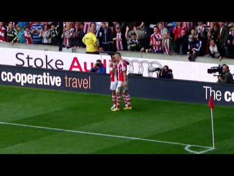 Stoke City - Marko Arnautovic and Peter Odemwingie Goal Celebrations