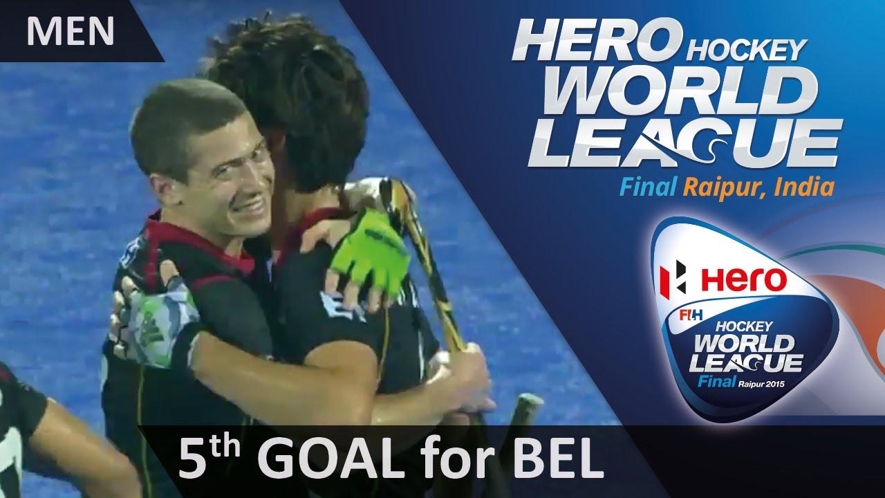 BEL 5-2 CAN Arthur van Doren adds a fifth for Belgium from a penalty corner #HWL2015 #Raipur