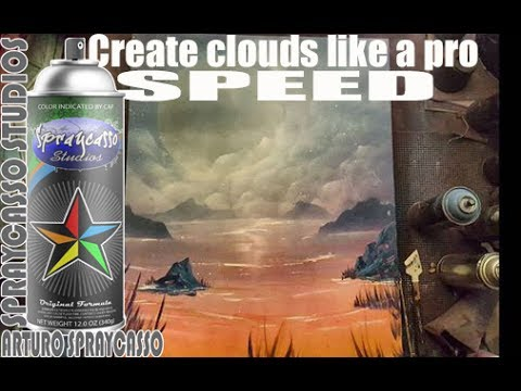 Clouds- Spraycasso Spray paint Tutorial