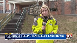 Reports of Feeling Tennessee's Earthquake