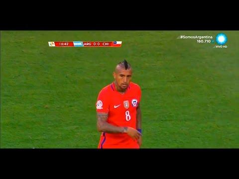 Arturo Vidal vs Argentina (06-06-16 - Relato Argentino) Copa America Centenario [HD]