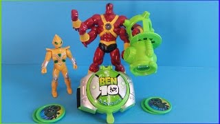 Ben 10 Four Arms Omnitrix Omniverse & Alien Force toy battle Fight