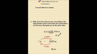 Conversions between units Foundation GCSE