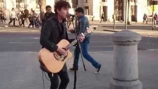 The Kinks, Sunny Afternoon - busking in the streets of London, UK
