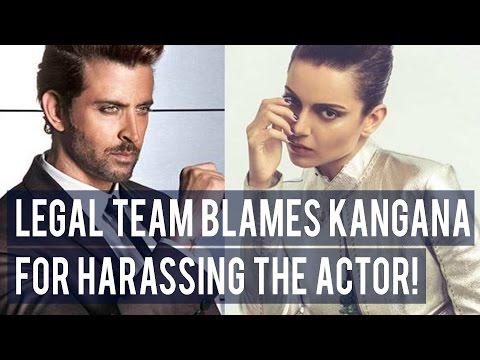 OMG ! Kangana Ranaut Blamed For Harassing Hrithik Roshan - Latest Bollywood Gossip