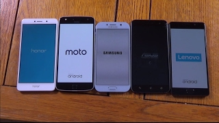 Samsung Galaxy A5 2017 vs Moto Z Play vs Honor 6X vs Lenovo P2 vs Asus Zenfone 3 - Speed Test!