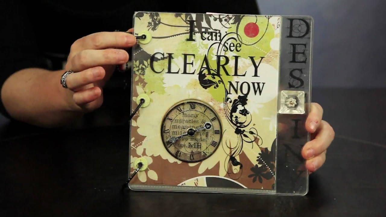 How to scrapbook youtube note 3 - Beginner Scrapbook Tutorials Part 5 Album Creation Youtube