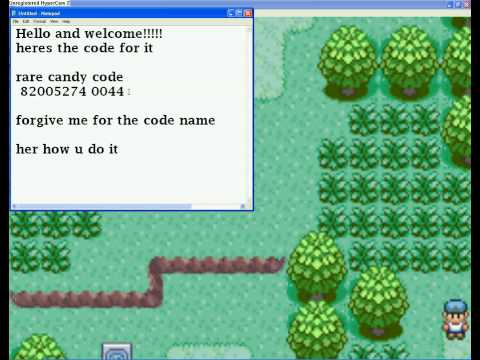pokemon emerald xy cheat codes rare candy