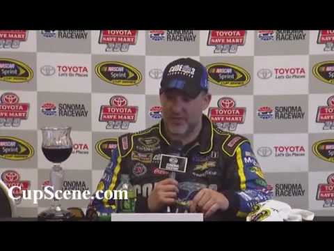 NASCAR at Sonoma Raceway June 2016: Tony Stewart post race