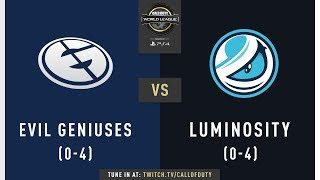 Evil Geniuses vs Luminosity | CWL Pro League 2019 | Division A | Week 2 | Day 2