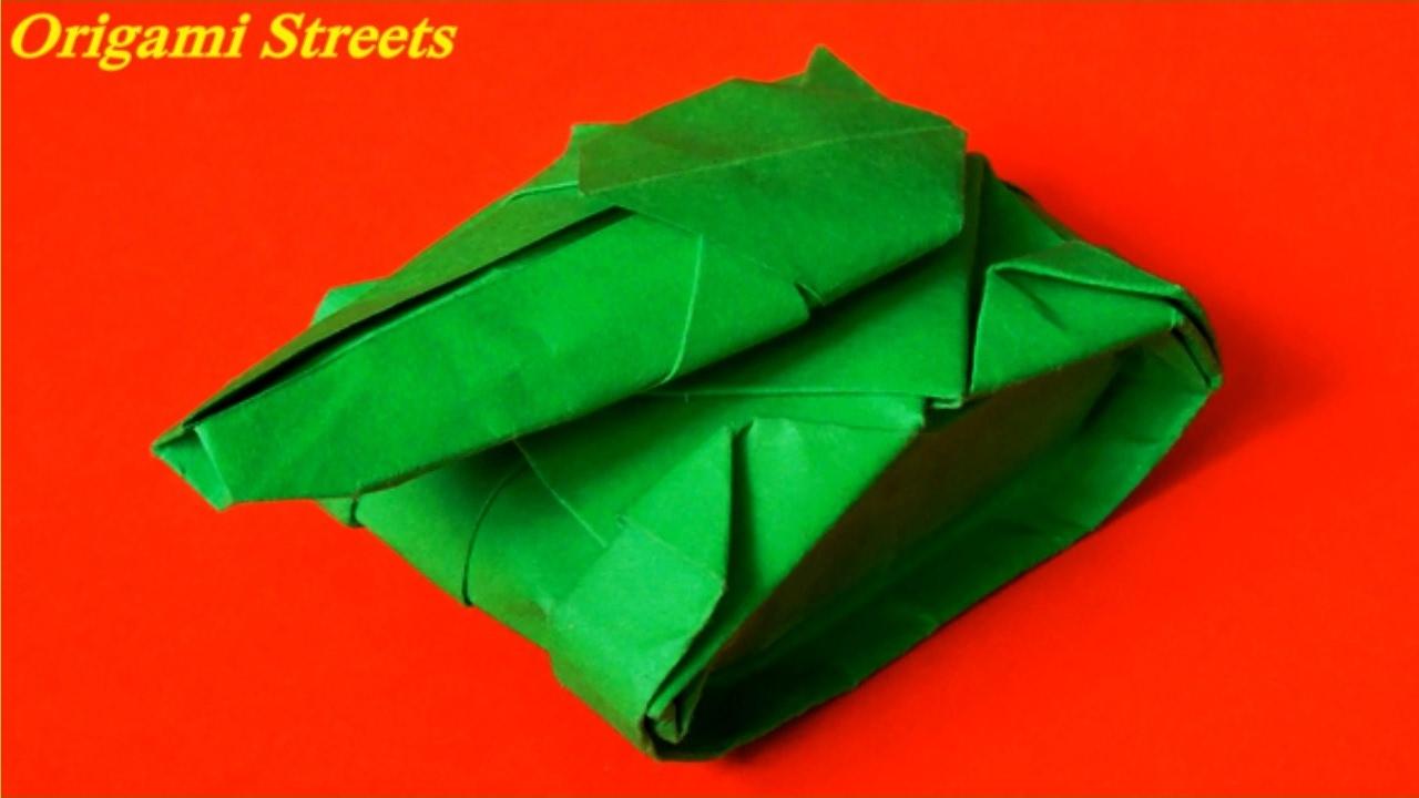 Видео оригами танк из бумаги