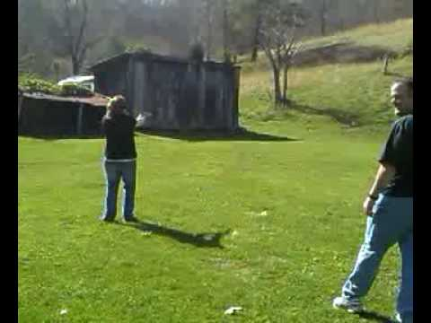 Girl shooting LAR Grizzly 45 Win Mag