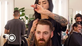 Clean Taper Fade with Sharp Beard Trim | Barbershop Chat