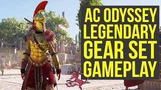 Assassin's Creed Odyssey Gameplay E3 - LEGENDARY GEAR SET In Depth Look (AC Odyssey gameplay E3)