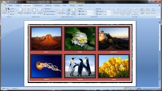 Microsoft word tutorial |How to insert images into word document table