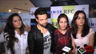Sanaya Irani, Mohit Sehgal, Asha Negi, Ritvik, Sargun Mehta, Barun Sobti at VRUNDAVAN Movie Premier