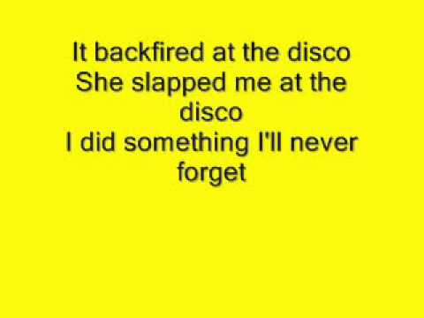 The wombats-backfire at the disco lyrics