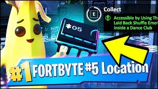 FORTBYTE 5 Location - ACCESSIBLE BY USING THE LAID BACK SHUFFLE EMOTE INSIDE A DANCE CLUB (Fortnite)