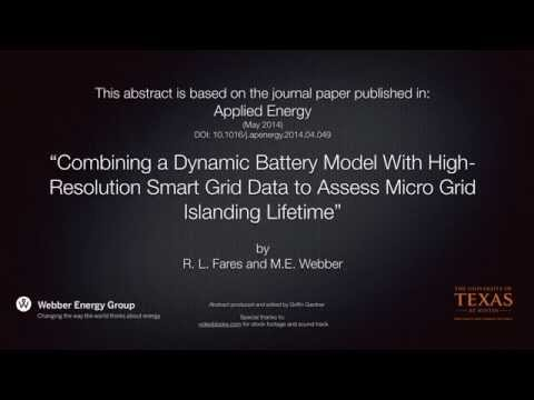 Combining a Dynamic Battery Model with Smart Grid Data...