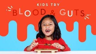 Kids Try Blood & Guts | Kids Try | HiHo Kids