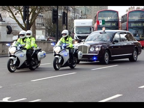 Metropolitan Police SEG Escorting President of Mexico & Prince Charles - Gets stuck in traffic
