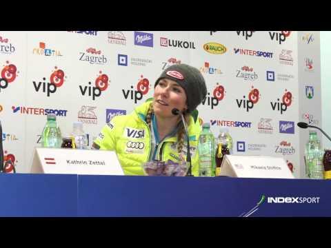 Mikaela Shiffrin nakon pobjede u Zagrebu