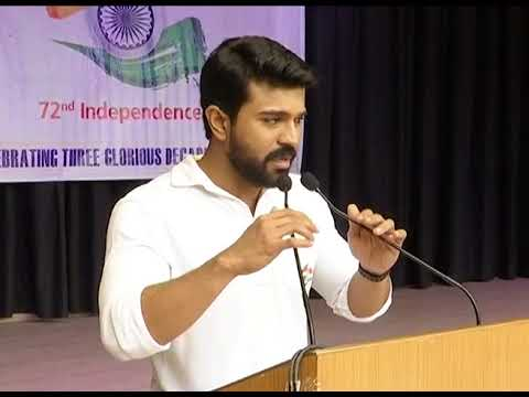 Mega Power Star Ram Charan Celebrates Independence Day In Chirec School