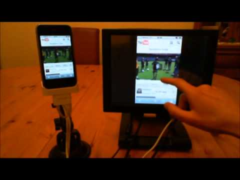 Control your iPhone/iPod from another touch screen monitor - WORLDS' FIRST SOLUTION!!!
