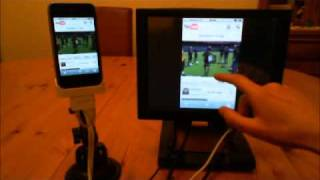 Control your iPhone/iPod from another touch screen monitor - WORLDS