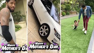 Paul George Buys His Girlfriend a New Car and Russell Westbrook Enjoys Mothers Day With His Son Noah