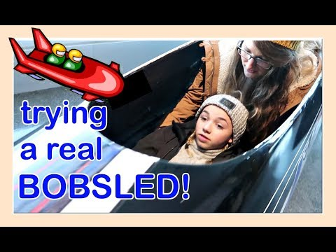 TRYING OUT A REAL BOBSLED