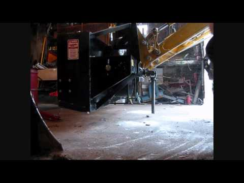 BIG BIG SNOW DAY John deere 110 tlb snow blower