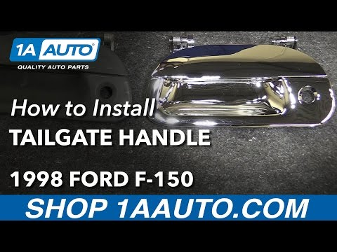 How to Install Replace Tailgate Handle With Lock Provision 1997-03 Ford F-150