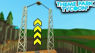 The SLINGSHOT Ride in Theme Park Tycoon 2!! (Roblox)