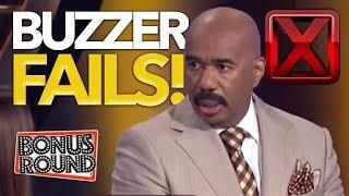 5 BIGGEST BUZZER FAILS On Family Feud US & Australia! Bonus Round