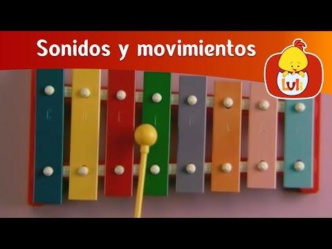 Sonidos y movimientos - Instrumentos musicales, para niños