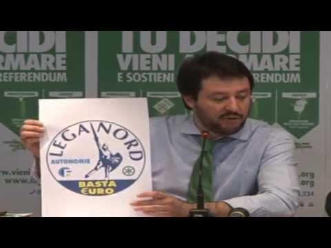 CONFERENZA STAMPA MILANO 31032014 - MATTEO SALVINI - EUGENIO ZOFFILI