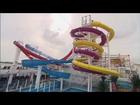 Water park aboard Norwegian's new cruise ship